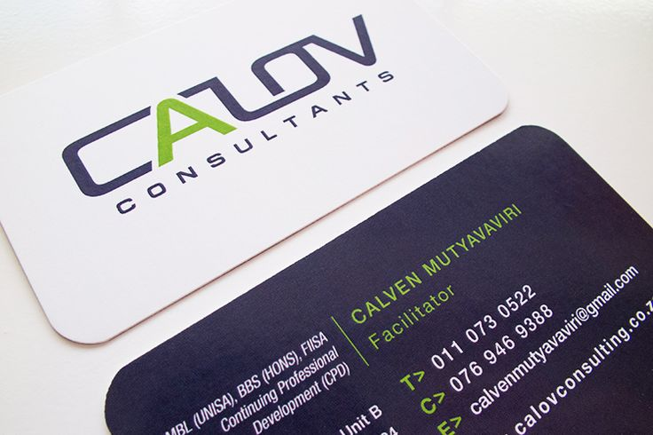 Calov Consultants Business Cards