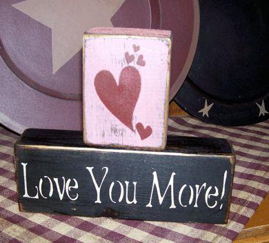 Love Message Blocks Home Decor Wholesale