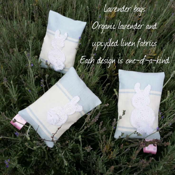 Lavender bags made using organic lavender and upcycled fabric