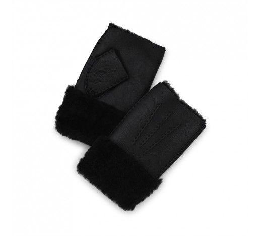 Billie Arm Warmer in black sheep fur // Markberg