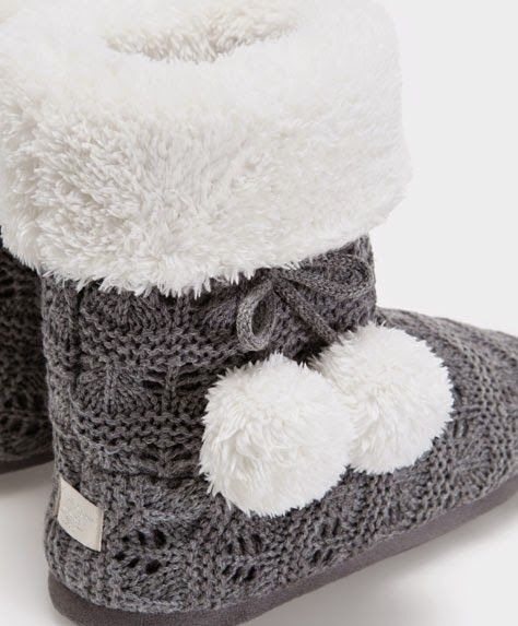 I'd love some new slippers. I like this style that are like booties and they looks really warm, cozy and cute