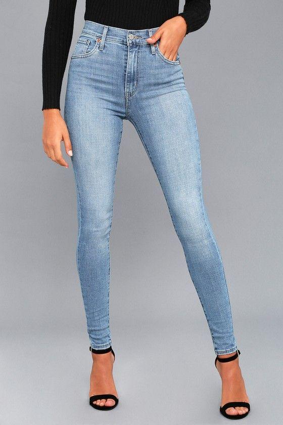 db3fb3d80 Mile High Light Wash Super Skinny Jeans in 2019 | Closet | Levis ...