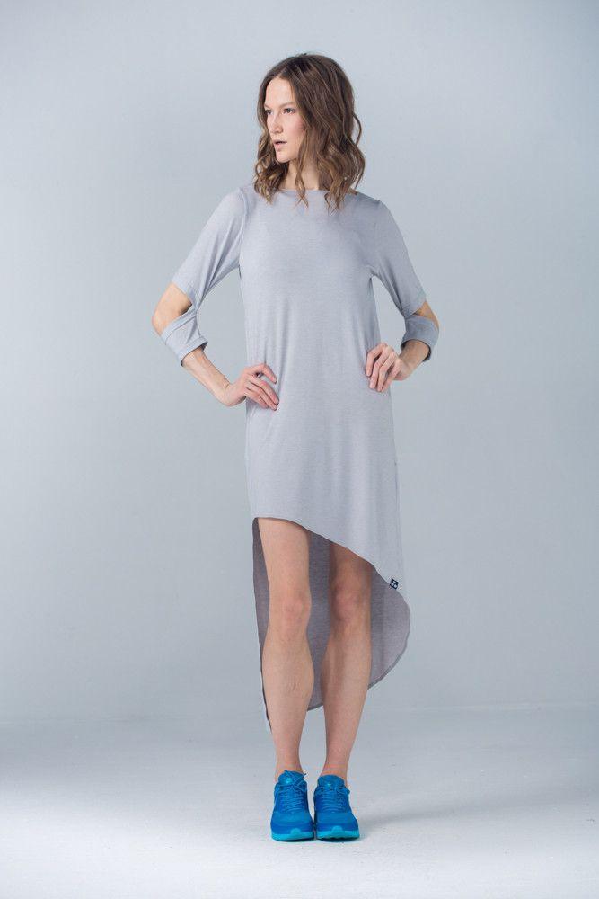 Платье с асимметричным подолом – YM