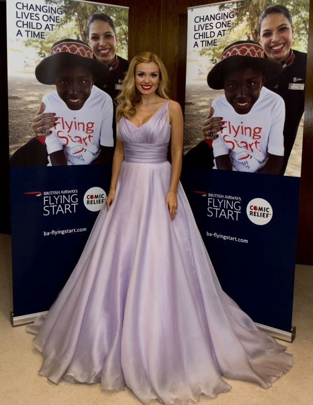 Katherine Jenkins OBE performs at British Airways annual ball in aid of Comic Relief, Britain, 24 Apr 2015 Katherine Jenkins wows in a Suzanne Neville gown 24 Apr 2015