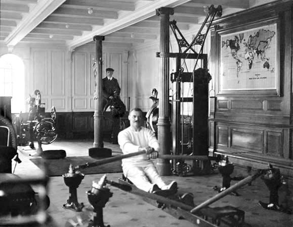 titanic: History, Photos, White Stars, Titanic Gym, Exercies Room, Rms Titanic, Row Machine, Gymnasium, 1912