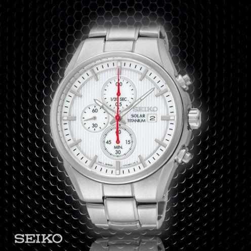 Seiko Titanium Solar Chronograph   SSC363P1