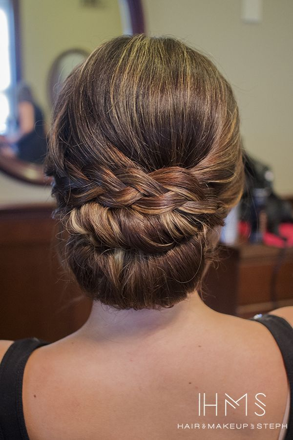 Bridal hairstyle inspiration:  the braided chignon. By Hair & Makeup by Steph.