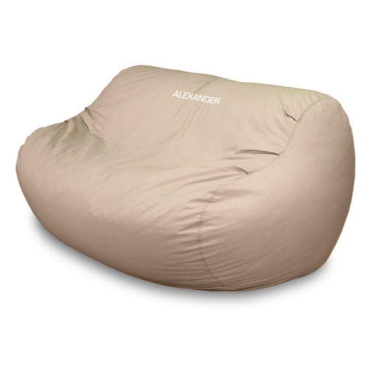 Large Personalized Big Bean Twill Foam Bean Bag Sofa Natural - BP032-8