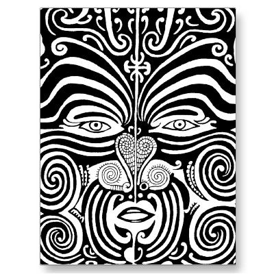Ancient Maori Moko tribal tattoo