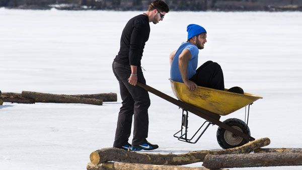 Navigating for nuggets and doing the polar bear dip - just another leg of #RaceCDA! #pierreandjamie #CTV