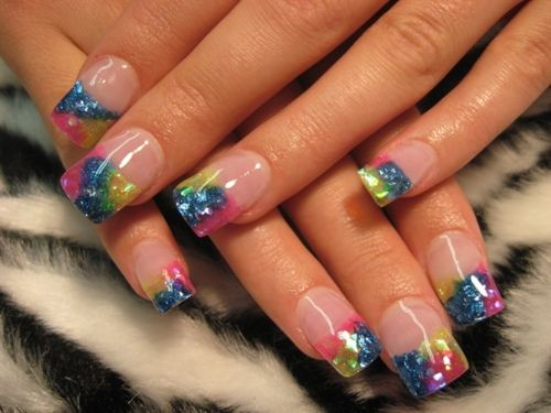luvFingernail Art, French Manicures, Nails Design, Spring Nails, Colors Nails, Glitter Nails, French Tips, Nails Art Design, Rainbows Nails