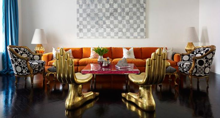 How To Decorate Around An Accent Chair Like Jonathan Adler / accent chair, jonathan adler, chair design, #chairdesign #livingroomideas #jonathanadler   Discover more: http://modernchairs.eu/decorate-accent-chair-like-jonathan-adler/