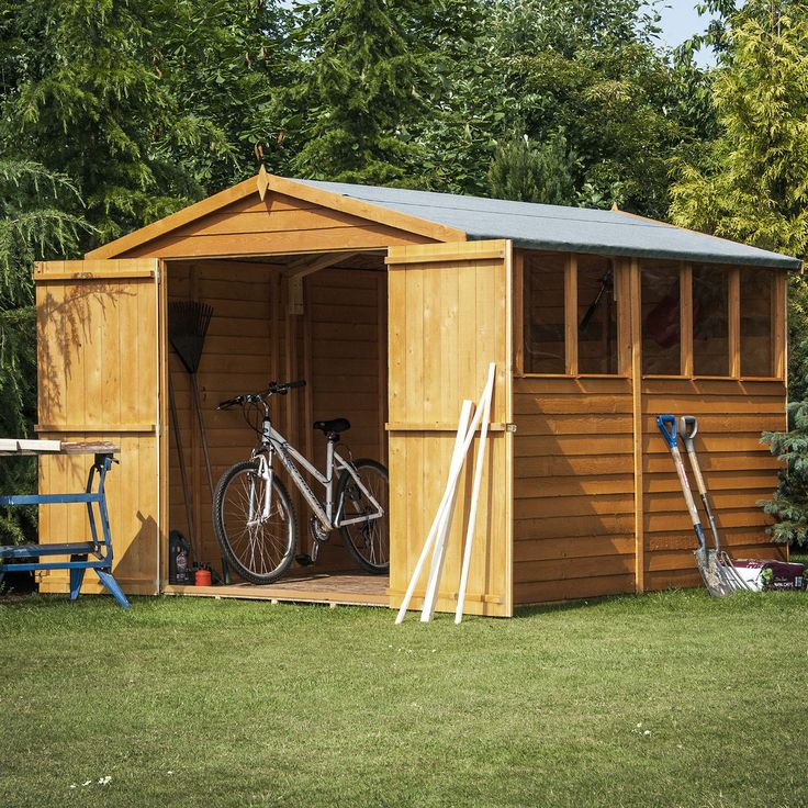 the shire overlap garden shed with double doors now with free uk delivery days save on shire wooden sheds with one garden official shire retailer - Garden Sheds Quick Delivery