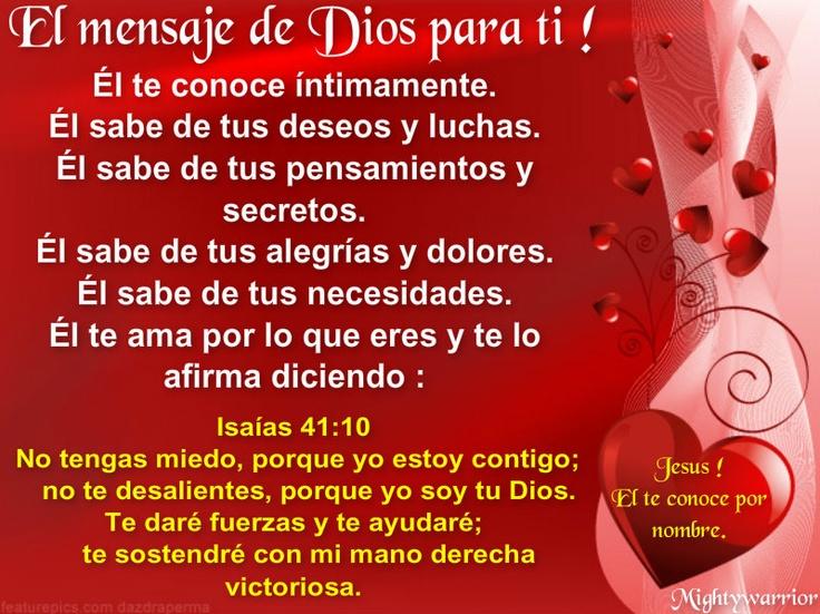 JESUS PODEROSO GUERRERO: El mensaje de Dios para ti !