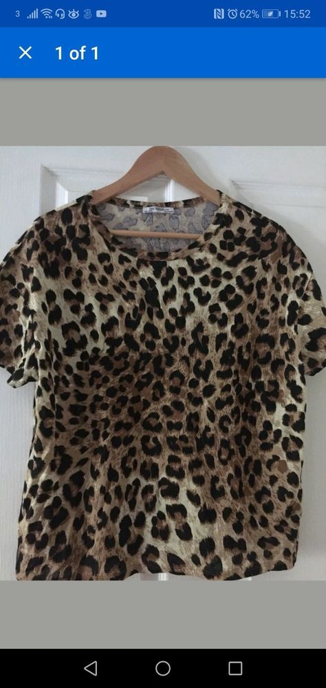 8e1eac4b4bf Womens Zara Leopard Print Top t-shirt animal Print tiger print Size L   fashion  clothing  shoes  accessories  womensclothing  tops (ebay link)