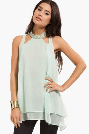 Sheer Luck Tunic Tank $36 at www.tobi.com