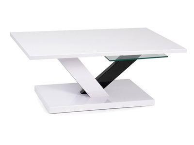 Table basse AGNES laquée blanche