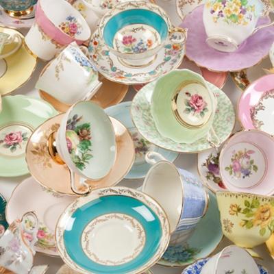 Lovely Wedding Touches | Vintage Crockery