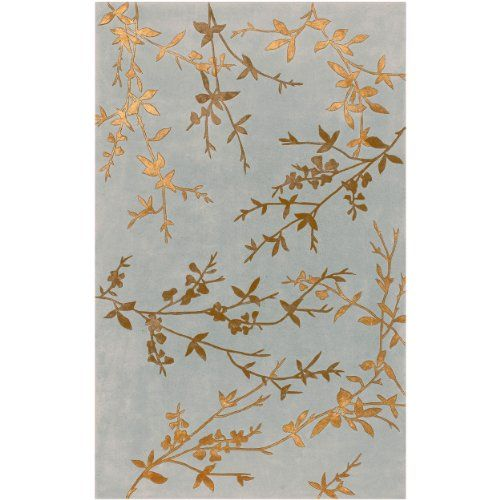 Stylishly Anchor Your Living Room Or Master Suite With This Lovely Hand Tufted Wool Rug Showcasing A Budding Vine Motif In Dove Gray And Mocha