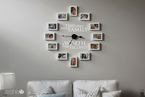 Time Spent With Family – Clock Decor DIY #howdoesshe #decorating howdoesshe.com
