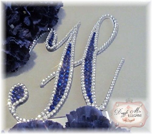 wedding monogram cake toppers 47 best blue wedding inspiration images on 9836