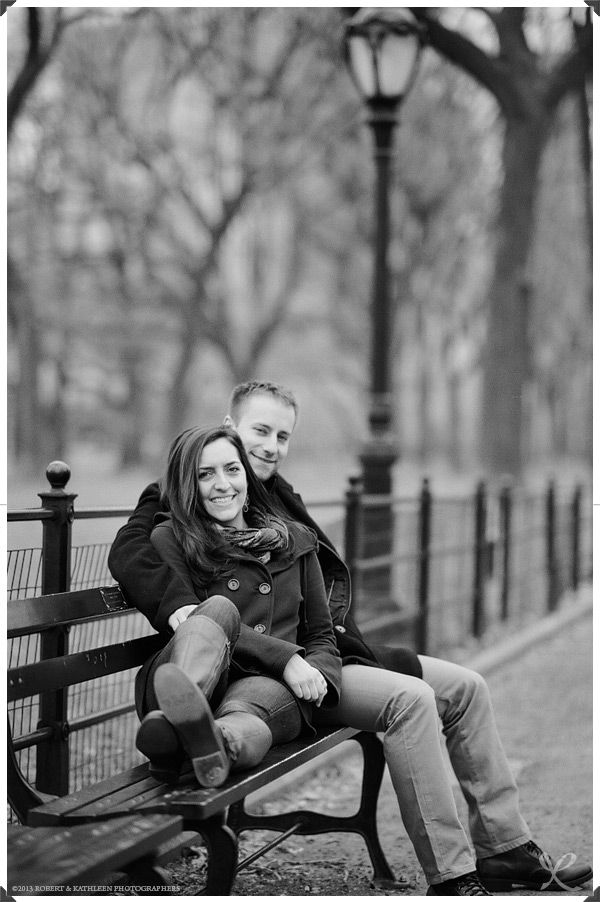NYC Engagement Photography: Robert and Kathleen Photographers | Central Park, Manhattan: Engagement Session Photos | Film