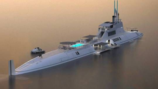 Submarine Yacht, ocean colonization needs a yacht that can provide comfort in the high seas at any time - not only on a marina pier connected to land. Mobilis in Mobile was Captain Nemos motto.