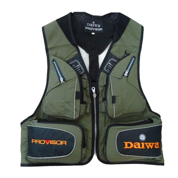 Multi Pocket Fishing Vest - 6 pockets - waterproof //Price: $35.94 & FREE Shipping //       #sportfishing #bassfishing