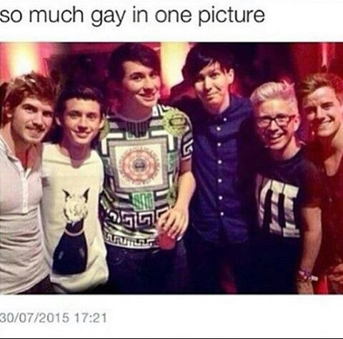 Joey Graceffa, Troye Sivan,Dan Howell,Phil Lester,Tyler Oakley and Connor Franta ..so much gay