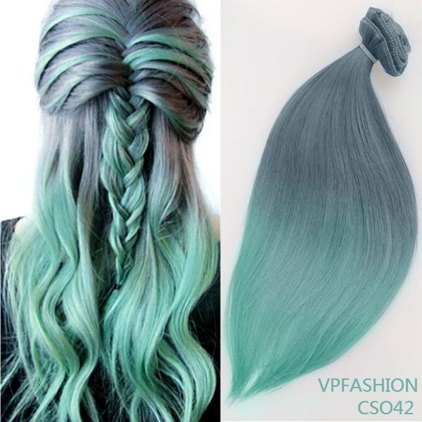 104 best hair extensions images on pinterest hairstyles hair grey to mint mermaid colorful ombre indian remy clip in hair extensions cs042 pmusecretfo Image collections