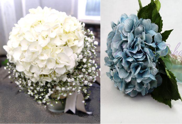 Ortanca Gelin Buketi Modelleri - En Güzel Gelin Çiçeği Fikirleri