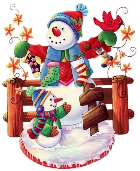 Snowman & snowchild...