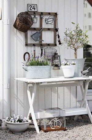 cute idea for gardening area