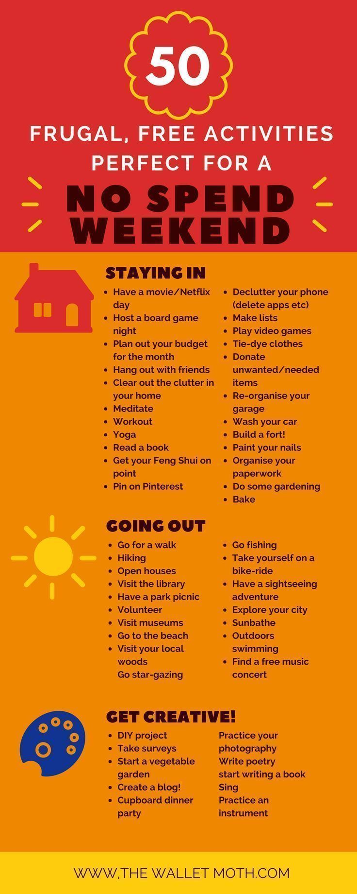 50 Free Activities for a No Spend Weekend!