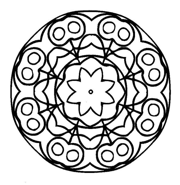 mandalas coloring pages via kwout color between the lines have fun