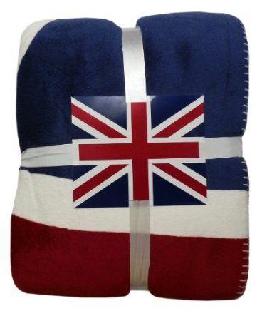 Super Soft Union Jack Sofa Bed Fleece Throw Blanket Multi