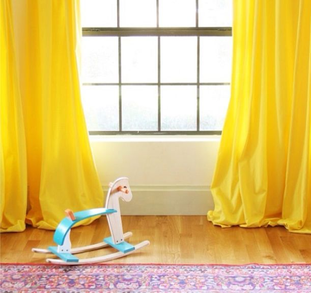 Are the windows in your space dye-ing for a pick-me-up? Take a cue from one of our favorite DIYers, and add a fun pop of color with some inexpensive dye and cheap panels.
