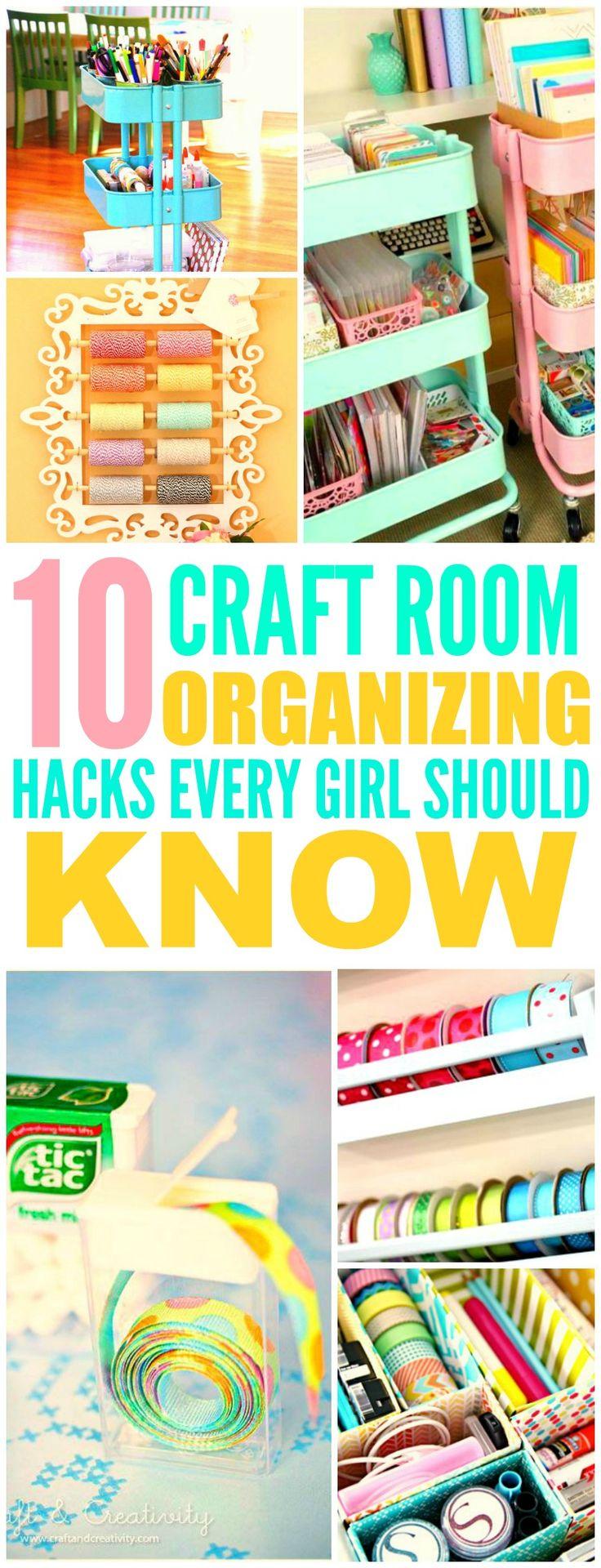 10 beyond clever craft room organization ideas arbeitsr ume einrichten und wohnen und. Black Bedroom Furniture Sets. Home Design Ideas