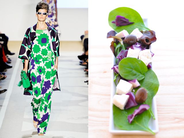 Diane Von Furstemberg ss 2012 / Delicate salad with vinaigrette dressing