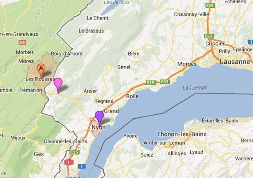 A proximité de la station Les Rousses le parc naturel vaudois offre de jolis parcours de randonnée. Notre découverte du Jura débuta dans cette région par une randonnée pédestre puis une autre à VTT, entre La Cure et Nyon. Le parcours VTT fut un peu difficile...