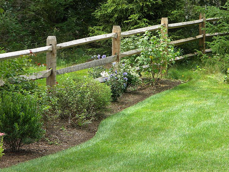 Welded Wire And Rail Fence Outdoors Fencing Pinterest