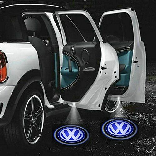 2 X 5th Gen LED car door Ghost Shadow laser projector logo light for Volkswagen VW Golf 4 5 6 Polo Passat Multivan Transporter Caddy Beetle Jetta CC Scirocco Tiguan Touran Touareg Eos Phaeton GTI Bigfish