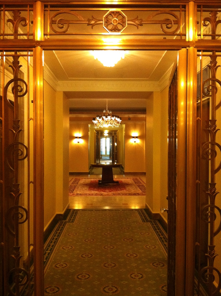 I love the golden hues and dark woods of this hotel...so old-world glamour.
