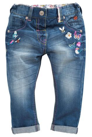 Купить Dark Wash Embroidered Jeans (3 мес.-6 лет) Купить онлайн прямо сейчас на Next: Украина