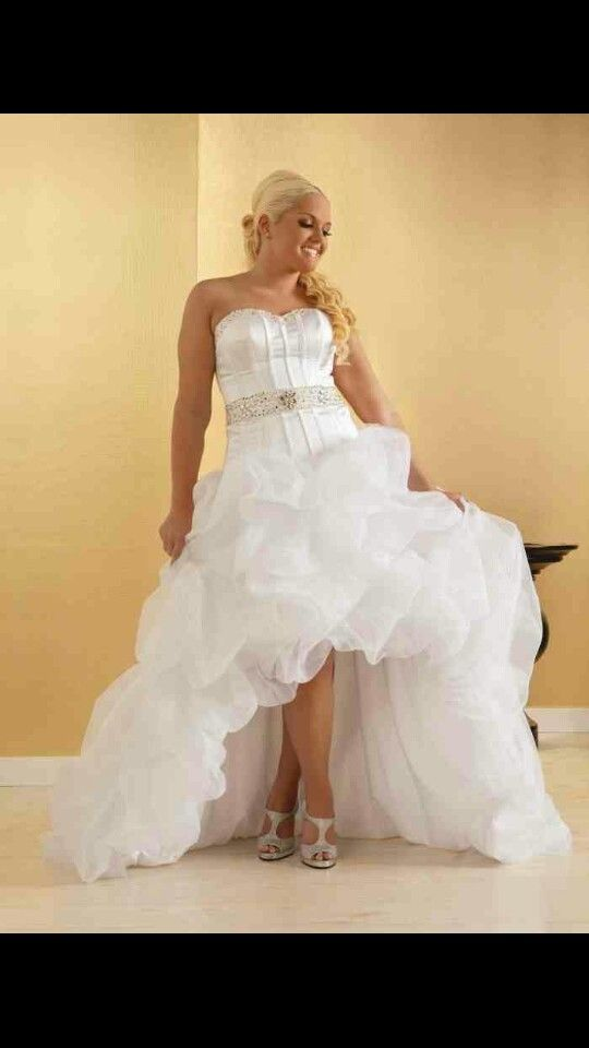 Beautiful High Low Wedding Dress. Would Look Amazing With A Pair Of Boots.