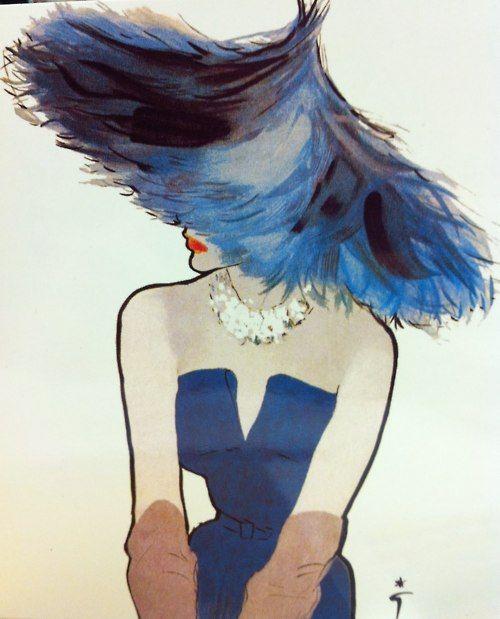 Rene Gruau, 1949 - commissioned by Christian Dior. Art, illustration, fashion