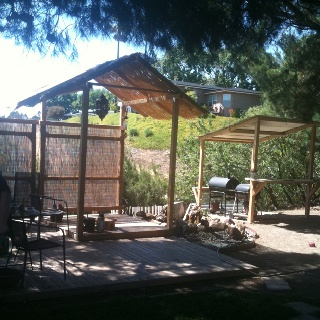 tiki hut and bbq shack in my backyard my home and garden ideas pi
