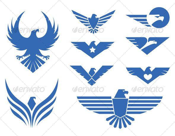 Eagles design — Vector EPS #animal #blue • Download here → https://graphicriver.net/item/eagles-design/61958?ref=pxcr