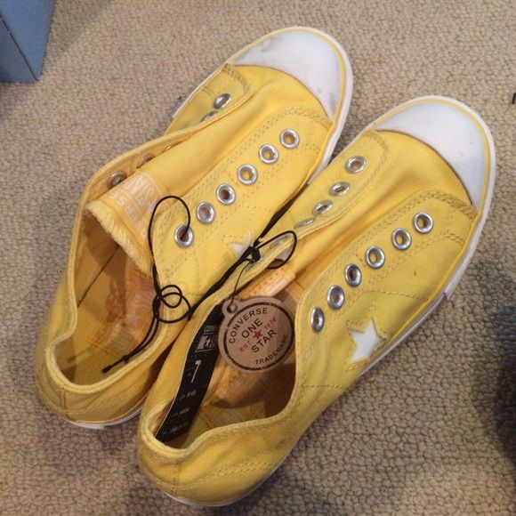 Converse One Star Shoes Yellow converse one star shoes. NWT. Never been worn. Converse Shoes