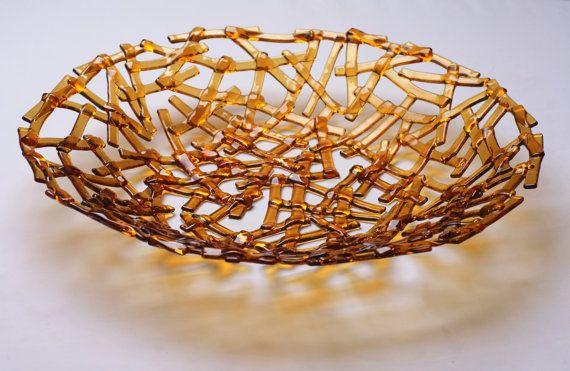 Modern brown decorative glass plate S-interiors Marrone Linea